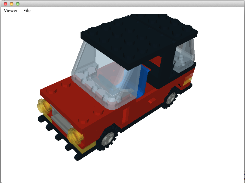 Screen shot of LDraw LEGO model viewer.